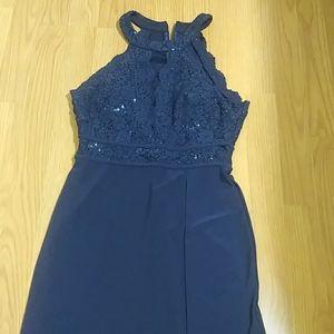 MORGARN & CO cutaway shoulder dress size 5/6